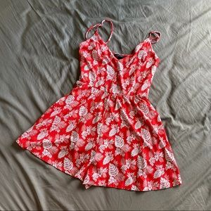 Red pattern Forever 21 romper in Small